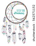 vector illustration of dream... | Shutterstock .eps vector #562571152