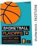 basketball playoffs  flat style ...   Shutterstock .eps vector #562571548