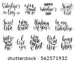 happy valentine's day... | Shutterstock .eps vector #562571932