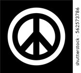 hippie peace symbol icon | Shutterstock .eps vector #562573786