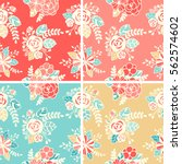 vector seamless floral colorful ...   Shutterstock .eps vector #562574602