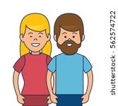 business people avatars icon | Shutterstock .eps vector #562574722