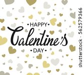 happy valentines day card... | Shutterstock .eps vector #562579366