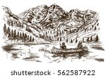 wild west. hand drawn... | Shutterstock .eps vector #562587922