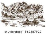 wild west. hand drawn... | Shutterstock .eps vector #562587922