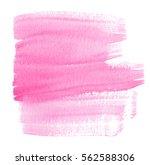 pink watercolor hand drawn wet... | Shutterstock . vector #562588306