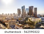 downtown cityscape los angeles  ... | Shutterstock . vector #562590322