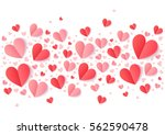 valentines day pink and red... | Shutterstock .eps vector #562590478