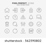 set of interface line icons....