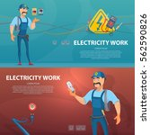 colorful electricity work... | Shutterstock .eps vector #562590826