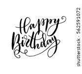 """happy birthday""   hand...   Shutterstock .eps vector #562591072"