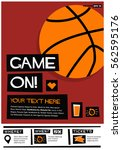 game on   flat style vector... | Shutterstock .eps vector #562595176