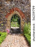 An English Walled Garden With...