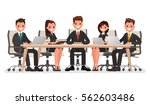 business meeting at the big... | Shutterstock .eps vector #562603486