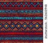 seamless vintage pattern.... | Shutterstock .eps vector #562603948