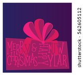 postcard merry christmas and... | Shutterstock .eps vector #562605112