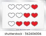heart background. | Shutterstock .eps vector #562606006