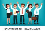 team of business people with... | Shutterstock .eps vector #562606306