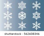 snowflake vector icon... | Shutterstock .eps vector #562608346