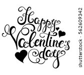 happy valentines day... | Shutterstock .eps vector #562609342