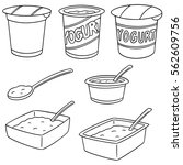 vector set of yogurt | Shutterstock .eps vector #562609756