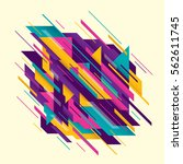 abstract style composition in... | Shutterstock .eps vector #562611745
