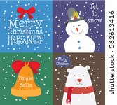 collection of stylish new year... | Shutterstock .eps vector #562613416