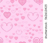 valentines day seamless pattern ... | Shutterstock .eps vector #562613425