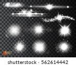 silver glitter bokeh lights and ... | Shutterstock .eps vector #562614442