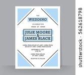 retro wedding invitation... | Shutterstock .eps vector #562618798