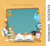 education background  school... | Shutterstock .eps vector #562620616
