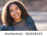 outdoor portrait of beautiful... | Shutterstock . vector #562628155