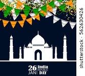 india republic day celebration. ... | Shutterstock .eps vector #562630426