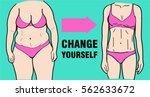 hange yourself. before and... | Shutterstock .eps vector #562633672