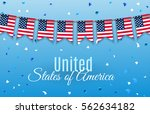 colorful chain  garland ... | Shutterstock .eps vector #562634182