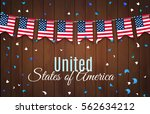 colorful chain  garland ... | Shutterstock .eps vector #562634212