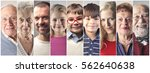 montage of a big family with... | Shutterstock . vector #562640638