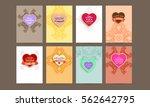 wedding invitation card or... | Shutterstock .eps vector #562642795