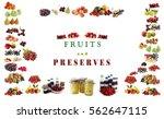 set of tasty fruit as background | Shutterstock . vector #562647115