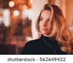 beautiful blonde girl 20 24... | Shutterstock . vector #562649422