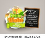 recipe detox cocktail with... | Shutterstock .eps vector #562651726