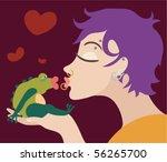 modern frog king   Shutterstock .eps vector #56265700