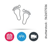 Baby Footprints Icon. Child...