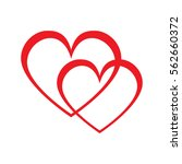 intersecting red hearts | Shutterstock . vector #562660372