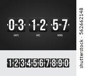 countdown timer. clock counter. ... | Shutterstock .eps vector #562662148