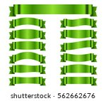 ribbon green banners set. sign... | Shutterstock .eps vector #562662676