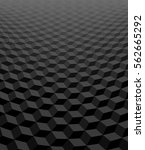 perspective 3d cubes  black and ... | Shutterstock .eps vector #562665292