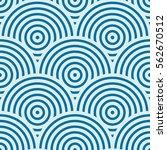 vector ornamental continuous... | Shutterstock .eps vector #562670512