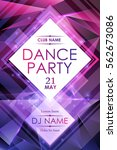 dance night party poster... | Shutterstock .eps vector #562673086