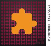 simple puzzle icon. | Shutterstock .eps vector #562673728